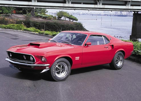 1969 FORD MUSTANG BOSS 429 FASTBACK - Front 3/4 - 61312