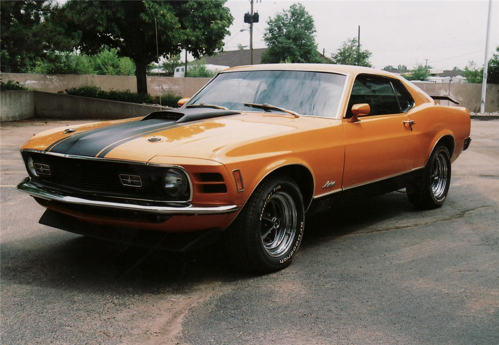 1970 FORD MUSTANG MACH 1 FASTBACK - Front 3/4 - 61317