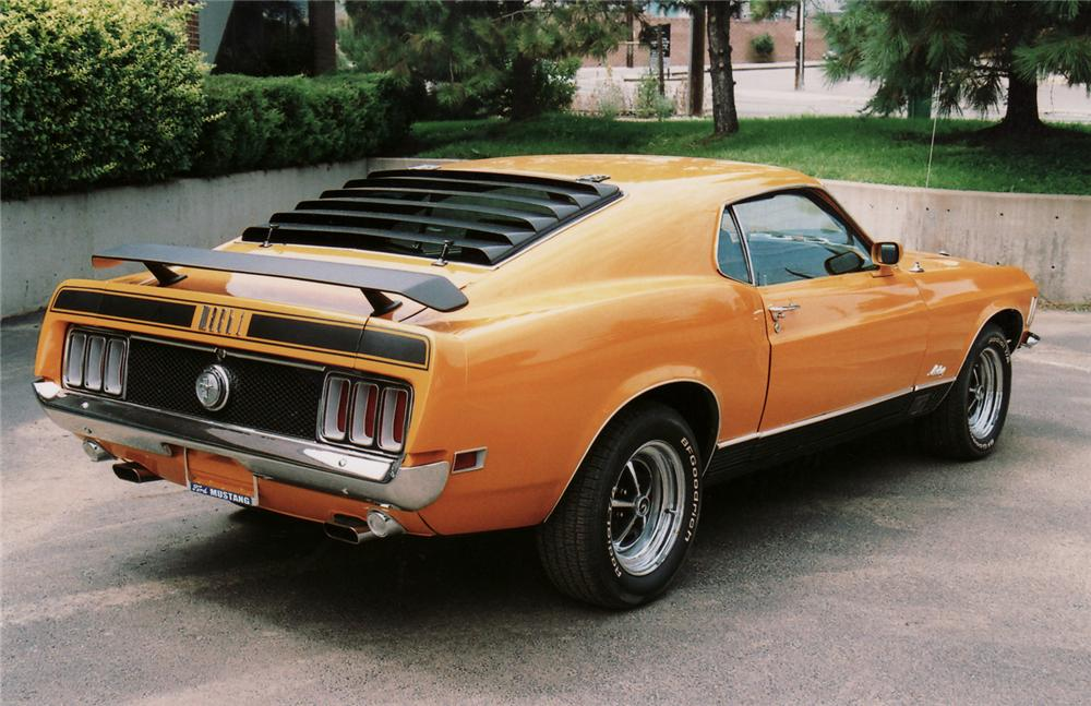 1970 FORD MUSTANG MACH 1 FASTBACK - Rear 3/4 - 61317