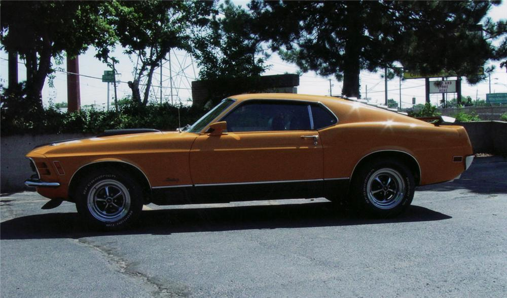1970 FORD MUSTANG MACH 1 FASTBACK - Side Profile - 61317