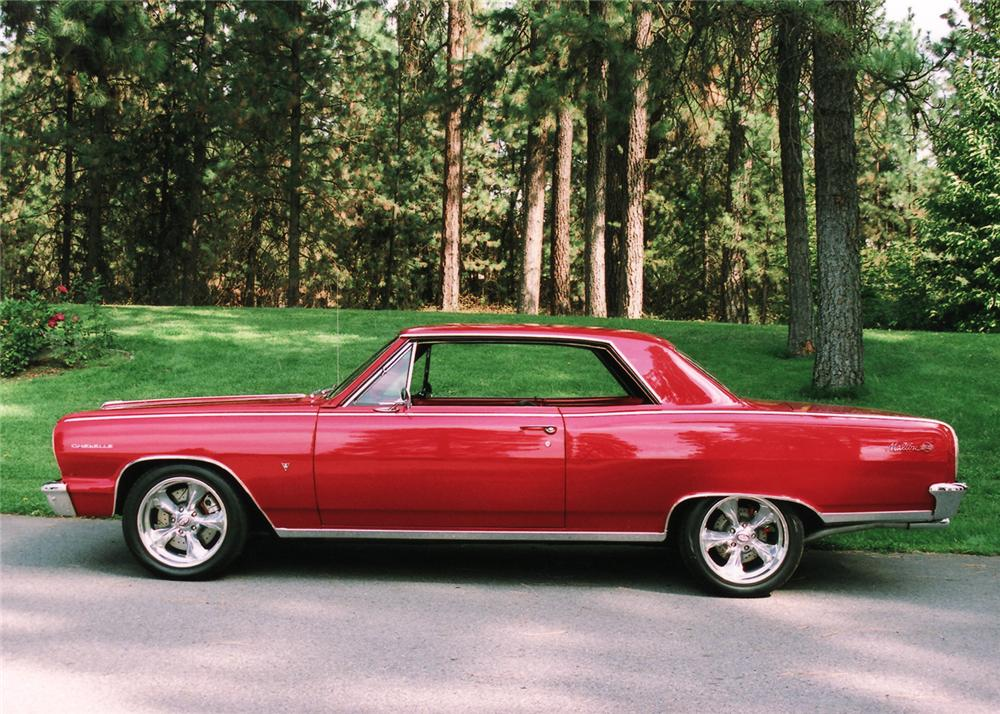 1964 CHEVROLET CHEVELLE SS CUSTOM 2 DOOR HARDTOP - Side Profile - 61334