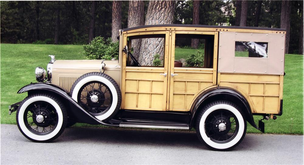 1930 FORD MODEL A STATION WAGON - Side Profile - 61335