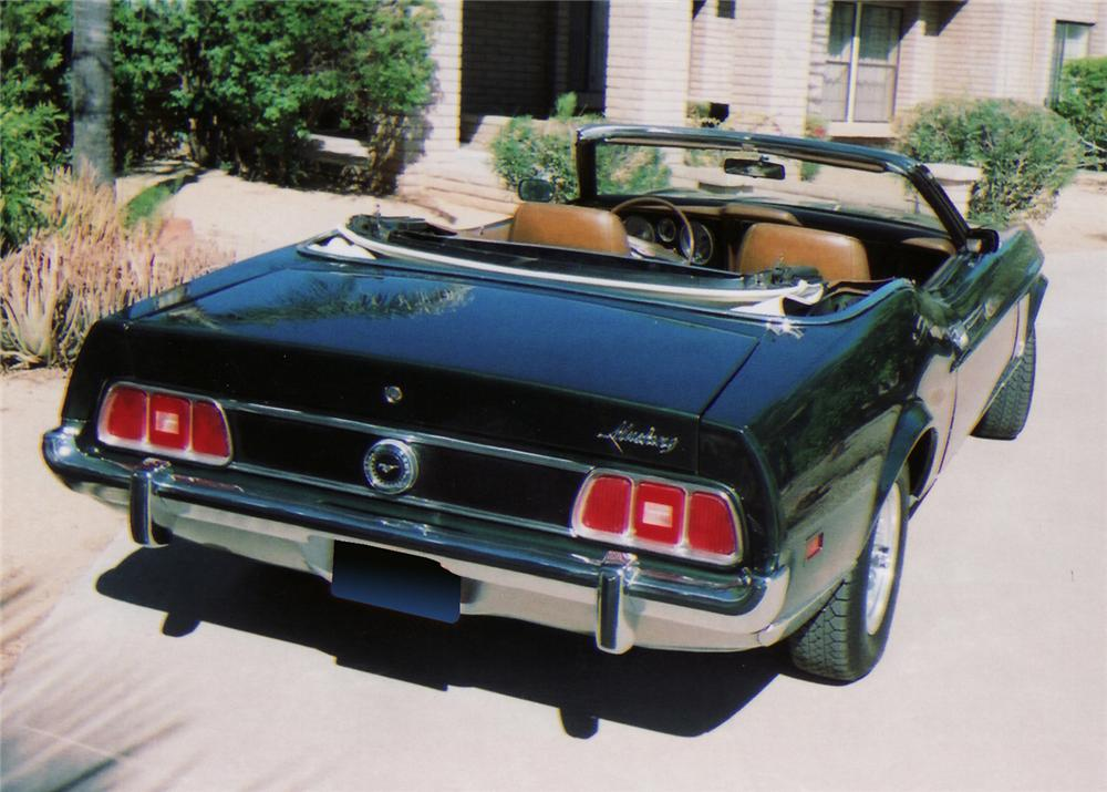 1973 FORD MUSTANG CONVERTIBLE - Rear 3/4 - 61353