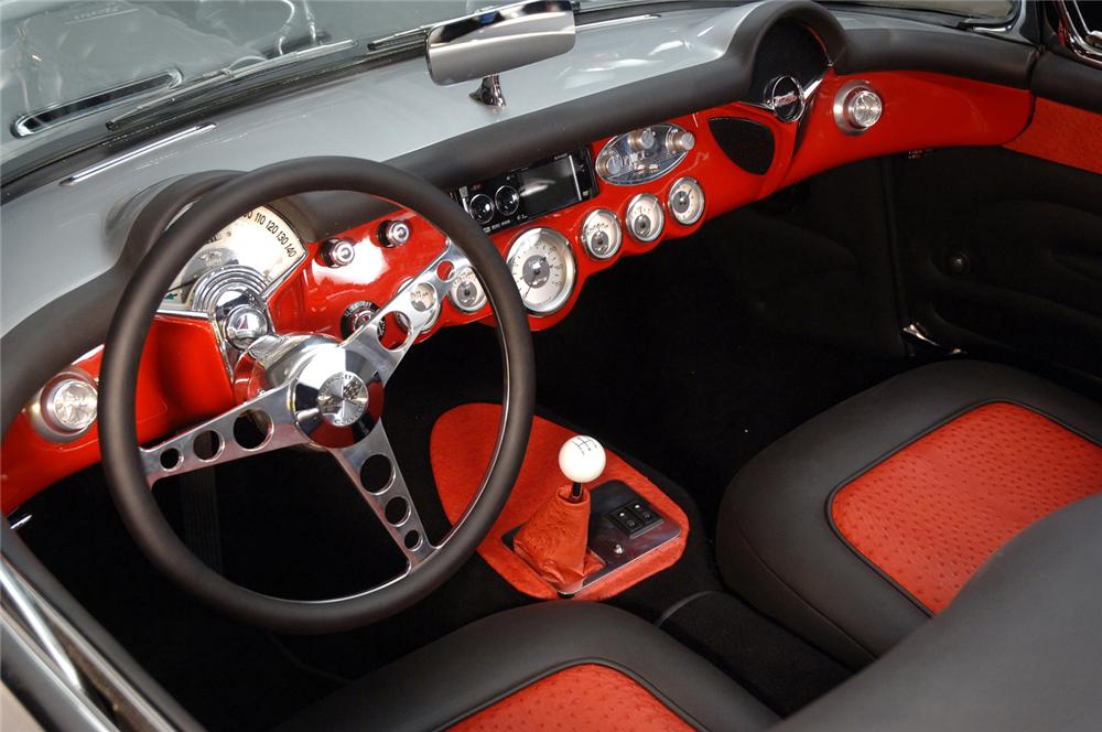 1957 CHEVROLET CORVETTE CUSTOM CONVERTIBLE - Interior - 61371