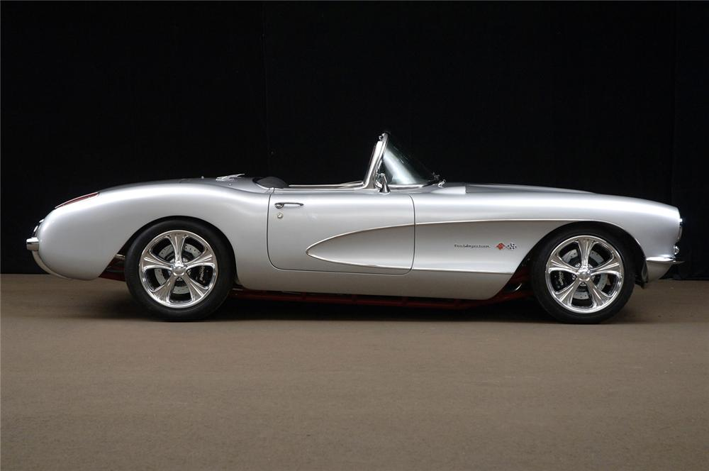 1957 CHEVROLET CORVETTE CUSTOM CONVERTIBLE - Side Profile - 61371