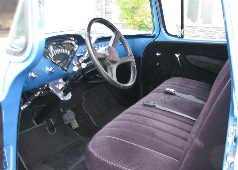 1957 CHEVROLET 3100 CUSTOM 1/2 TON PICKUP - Interior - 61373