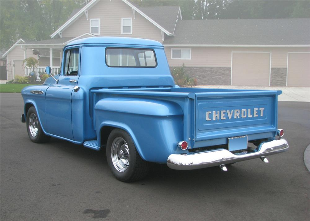 1957 CHEVROLET 3100 CUSTOM 1/2 TON PICKUP - Rear 3/4 - 61373