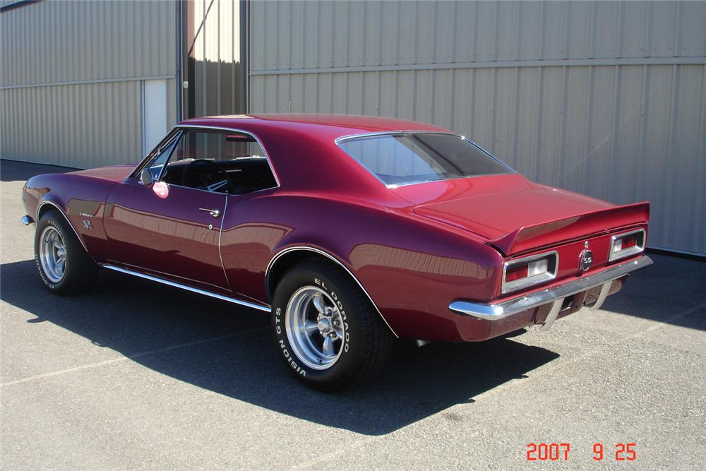 1967 CHEVROLET CAMARO SS 2 DOOR COUPE - Rear 3/4 - 61375