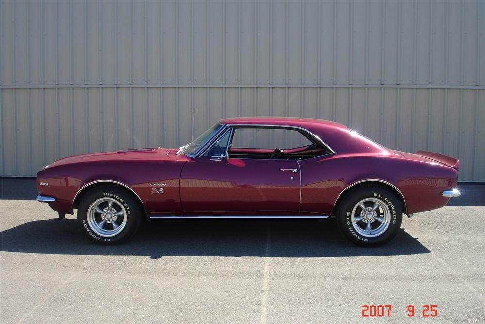 1967 CHEVROLET CAMARO SS 2 DOOR COUPE - Side Profile - 61375