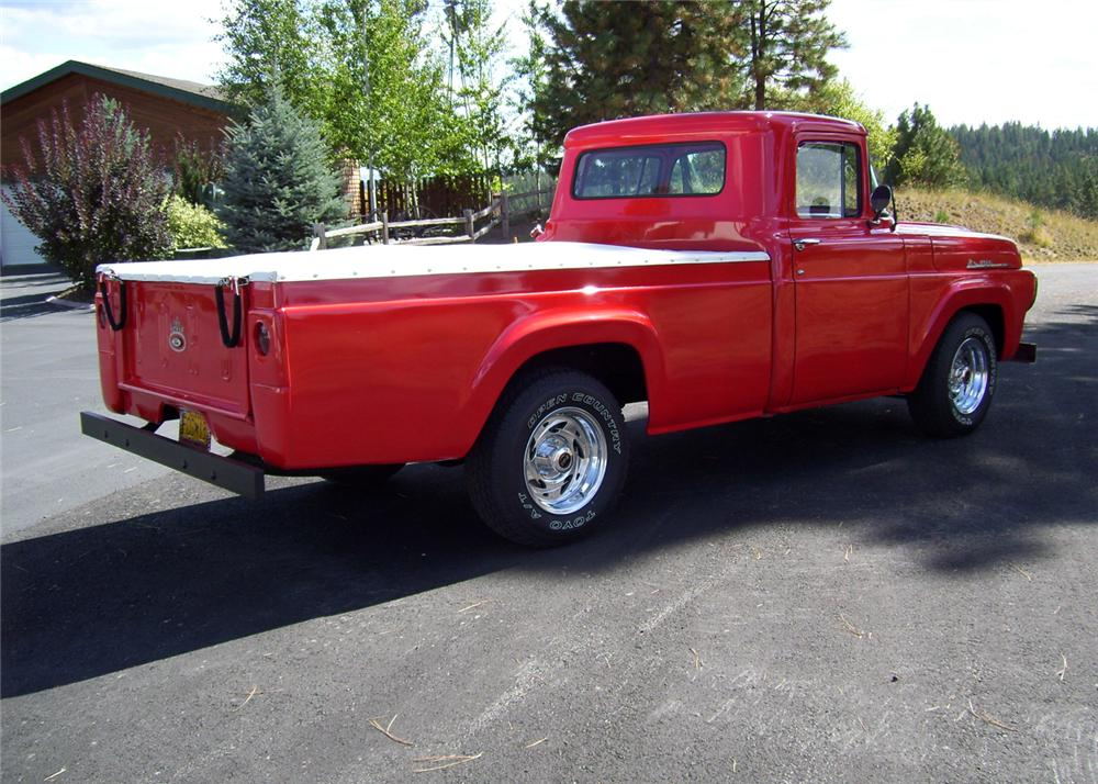 1958 FORD PICKUP - Rear 3/4 - 61399