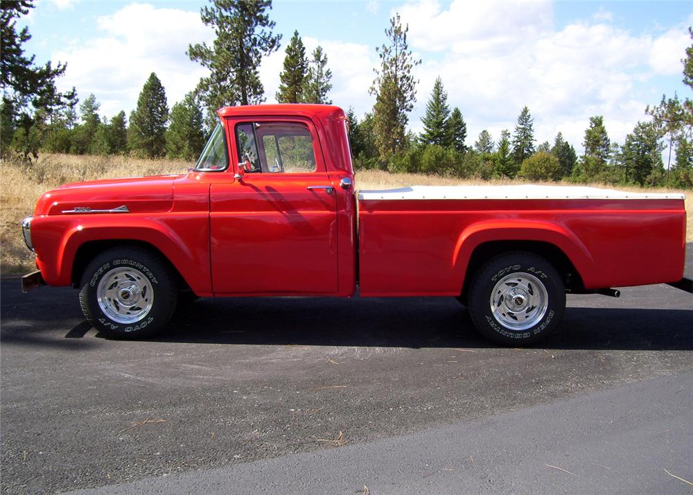 1958 FORD PICKUP - Side Profile - 61399