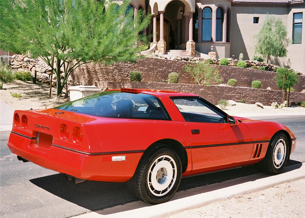 1987 CHEVROLET CORVETTE COUPE - Rear 3/4 - 61403
