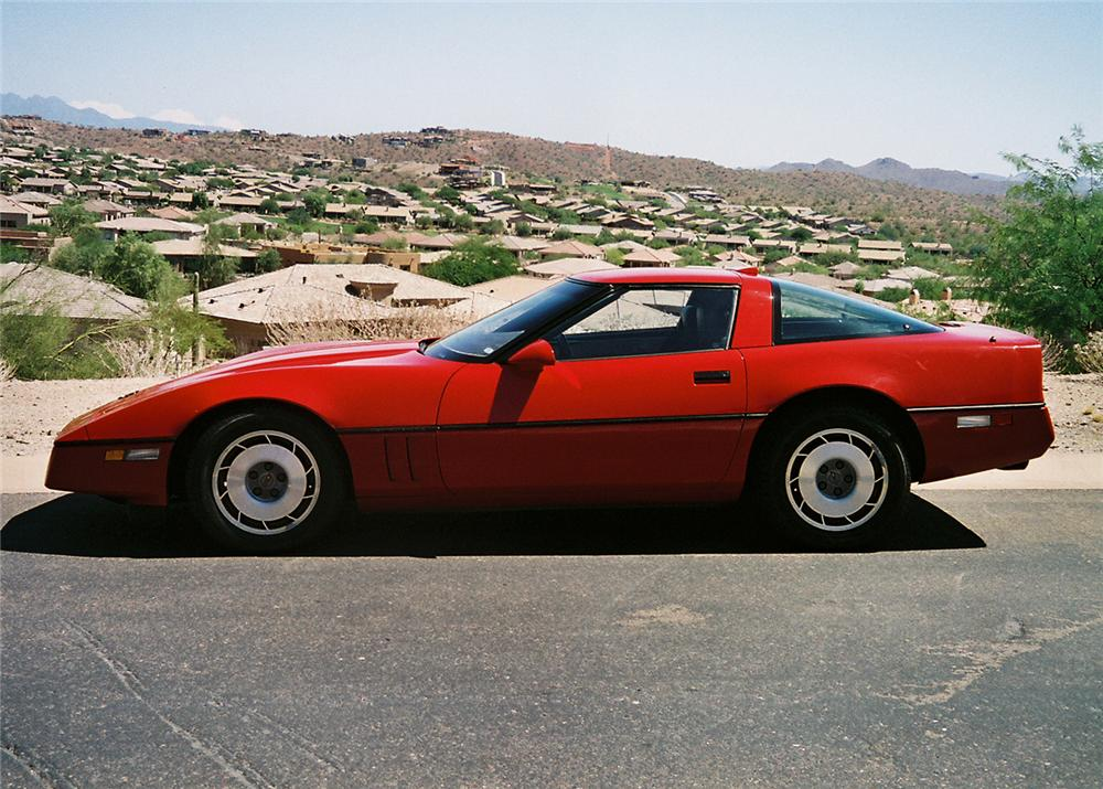 1987 CHEVROLET CORVETTE COUPE - Side Profile - 61403