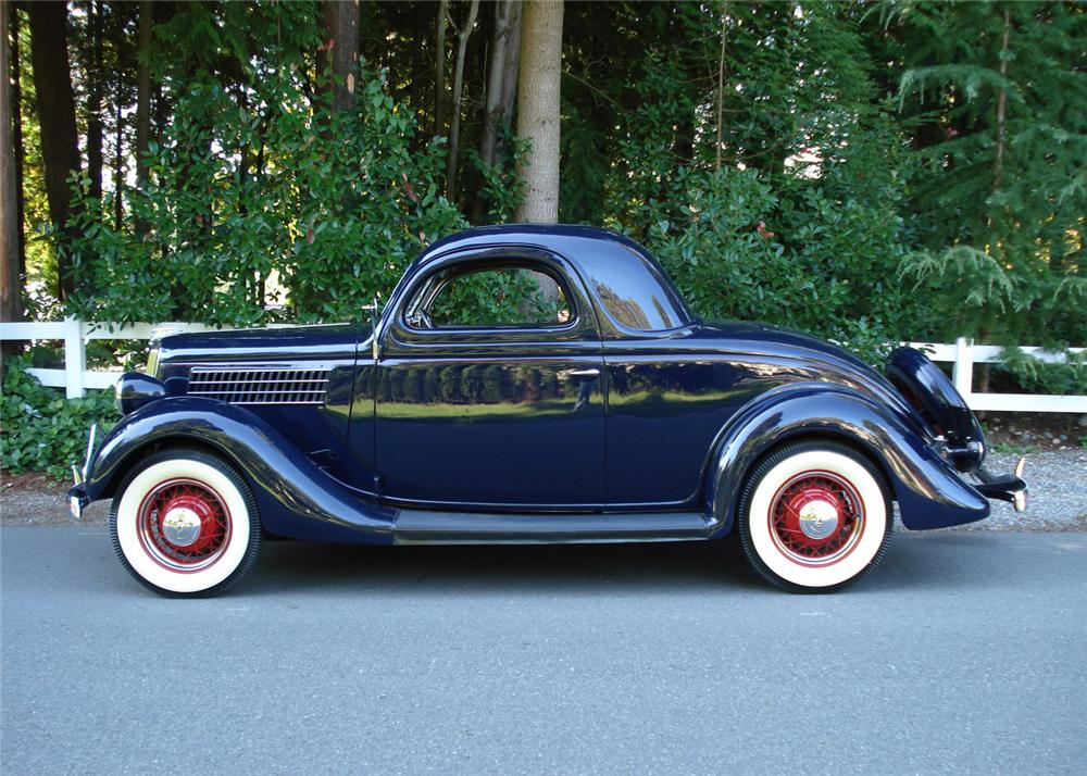 1935 FORD 3 WINDOW COUPE - Side Profile - 61423