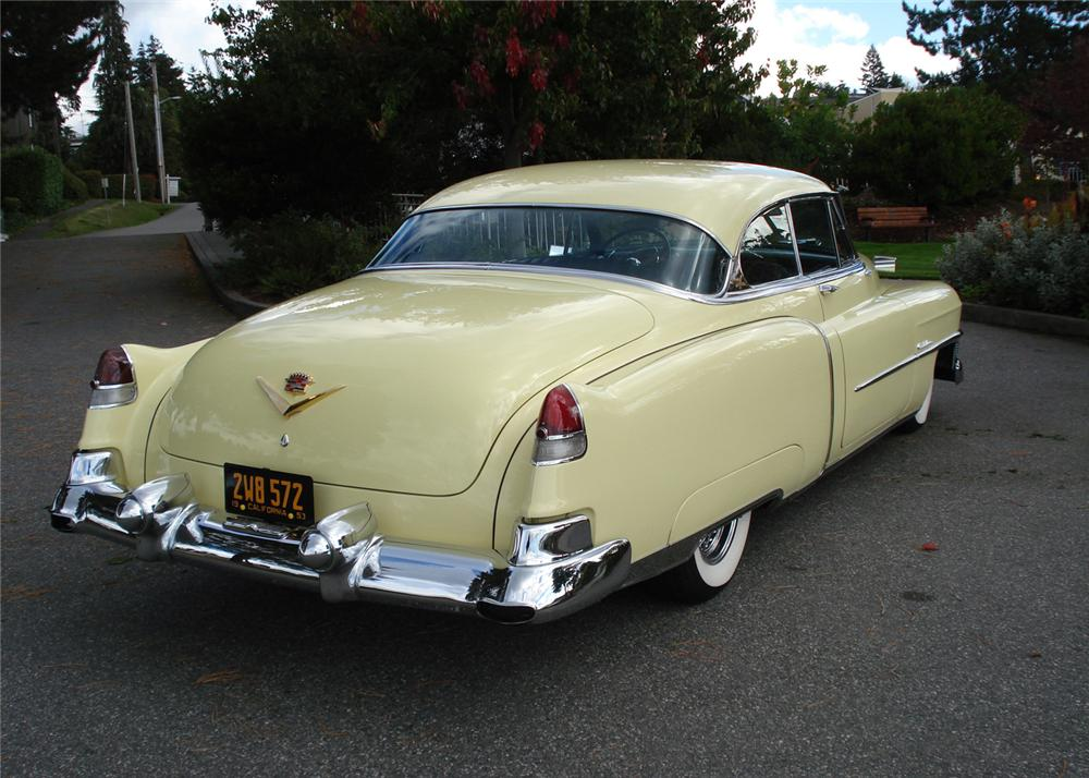 1953 cadillac coupe de ville 2 door hardtop 61424 for 1953 cadillac 4 door sedan