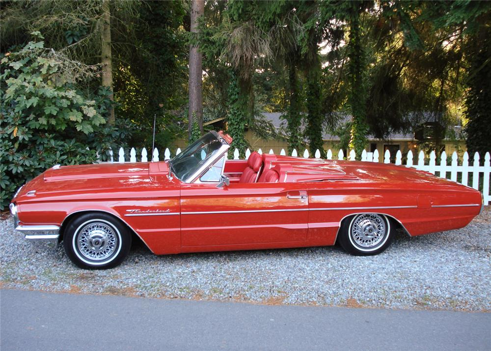 1964 FORD THUNDERBIRD CONVERTIBLE - Side Profile - 61433