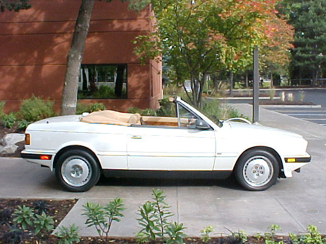 1989 MASERATI BI-TURBO SPIDER - Side Profile - 61447