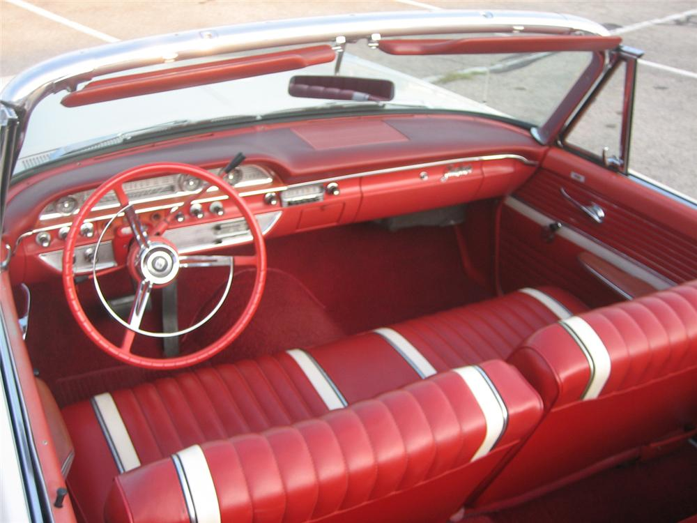 1962 FORD SUNLINER CONVERTIBLE - Interior - 61453