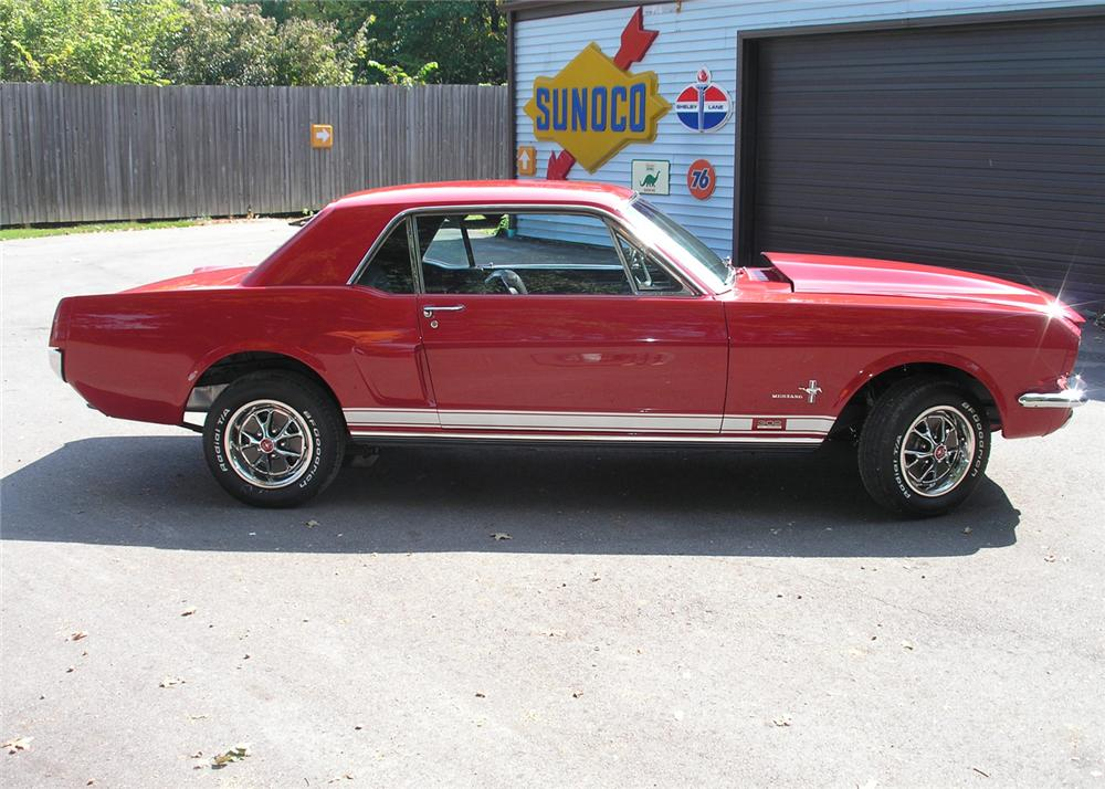1966 FORD MUSTANG CUSTOM COUPE - Side Profile - 61458