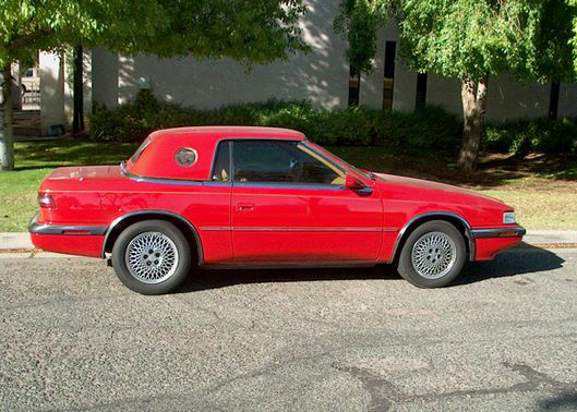 1989 CHRYSLER MASERATI TC CONVERTIBLE - Side Profile - 61467