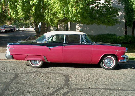 1955 DODGE CUSTOM ROYAL LANCER 2 DOOR HARDTOP - Side Profile - 61468