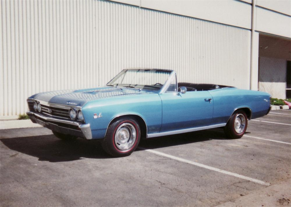 1967 CHEVROLET CHEVELLE SS CONVERTIBLE - Front 3/4 - 61477