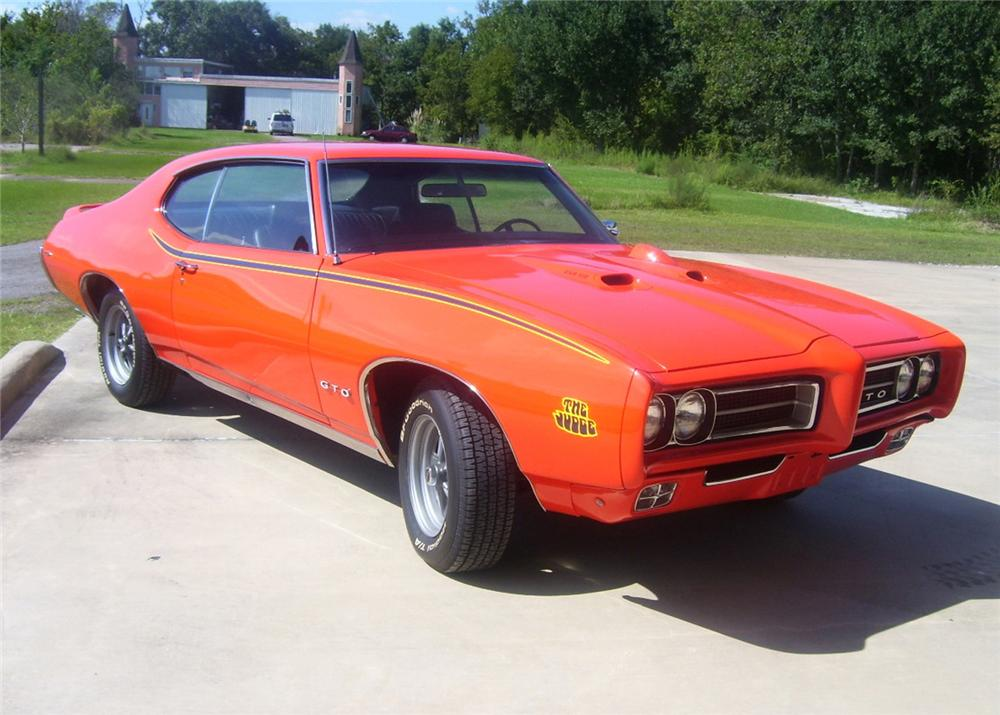 1969 PONTIAC GTO JUDGE 2 DOOR HARDTOP - Front 3/4 - 61489