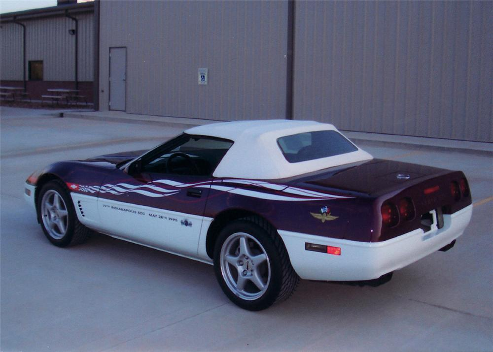 1995 CHEVROLET CORVETTE PACE CAR CONVERTIBLE - Rear 3/4 - 61492