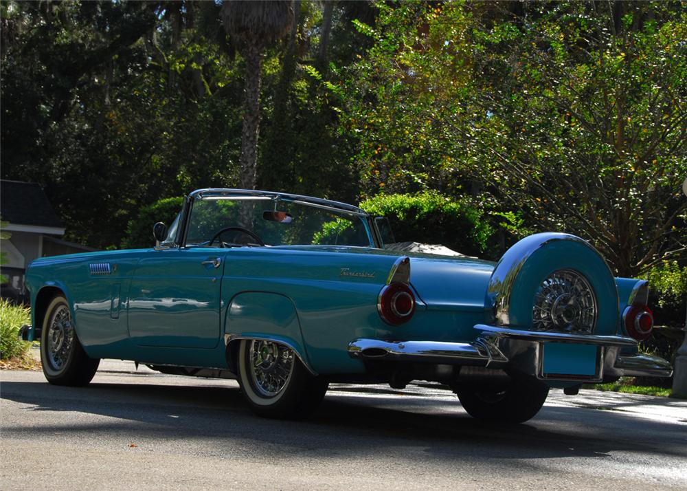 1956 FORD THUNDERBIRD CONVERTIBLE - Rear 3/4 - 61516