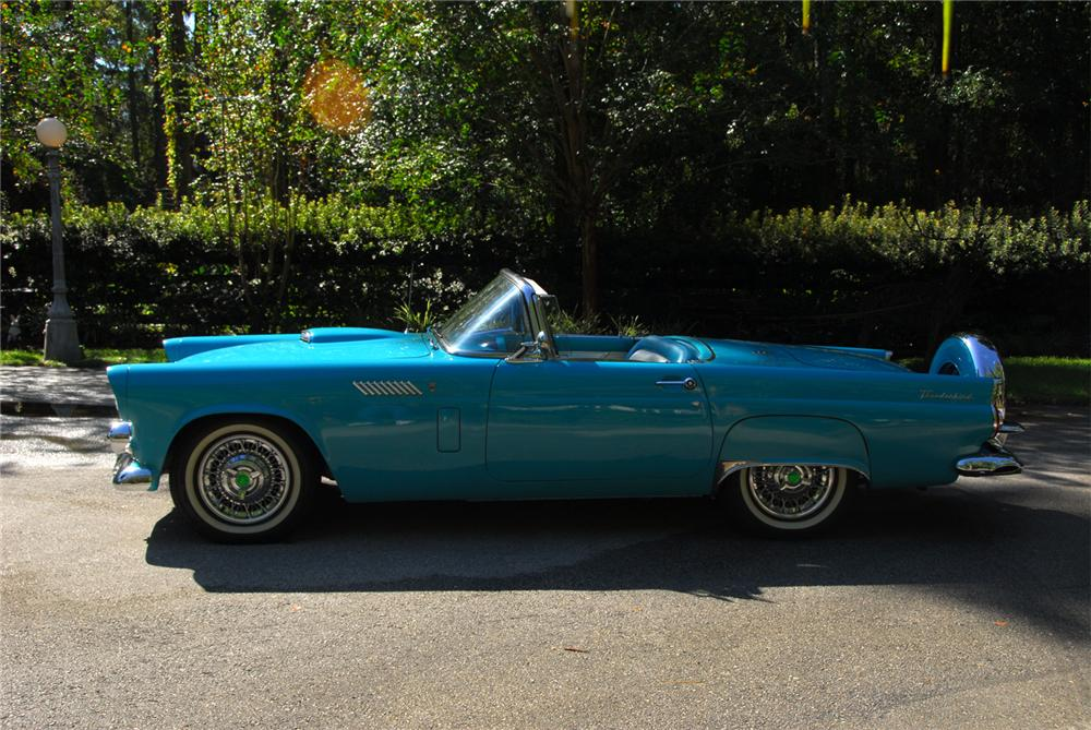 1956 FORD THUNDERBIRD CONVERTIBLE - Side Profile - 61516