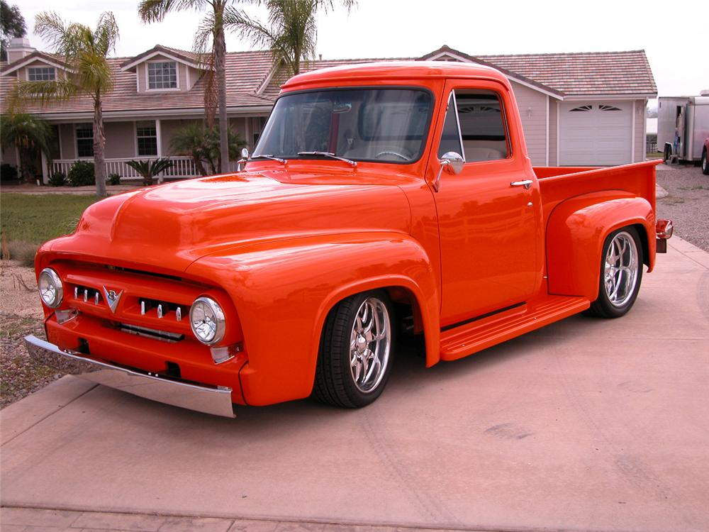 1953 ford f 100 custom pickup 61543. Black Bedroom Furniture Sets. Home Design Ideas