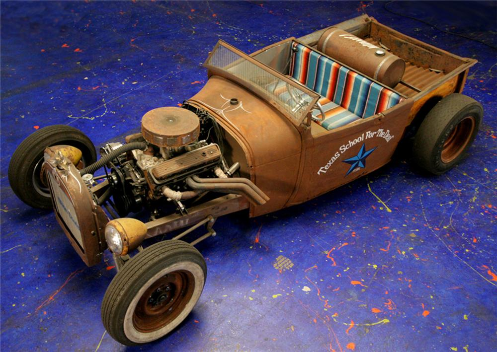 """1929 FORD ROADSTER CUSTOM """"HIGH SCHOOL T-TRACK"""" - Front 3/4 - 61593"""