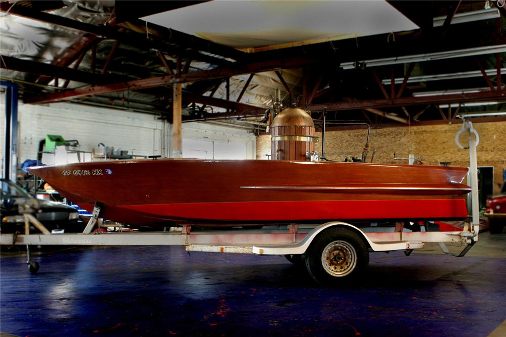 1986 CHRISCRAFT CUSTOM STEAM POWERED BOAT - Front 3/4 - 61594