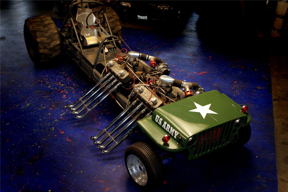 1945 jeep willys custom 39 army tractor pull 39 61597. Black Bedroom Furniture Sets. Home Design Ideas