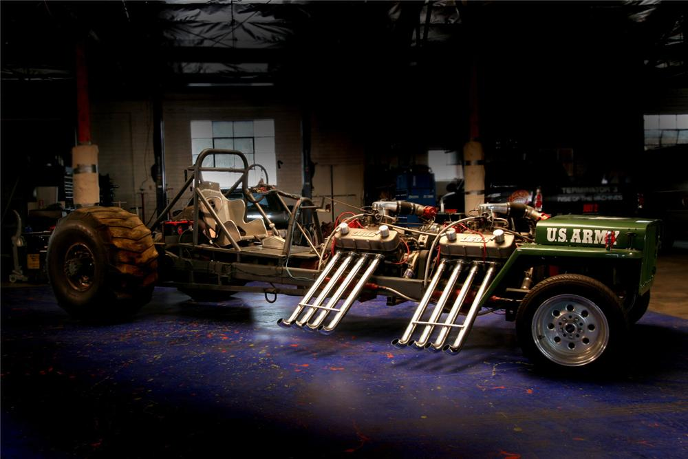 """1945 JEEP WILLYS CUSTOM """"ARMY TRACTOR PULL"""" - Side Profile - 61597"""