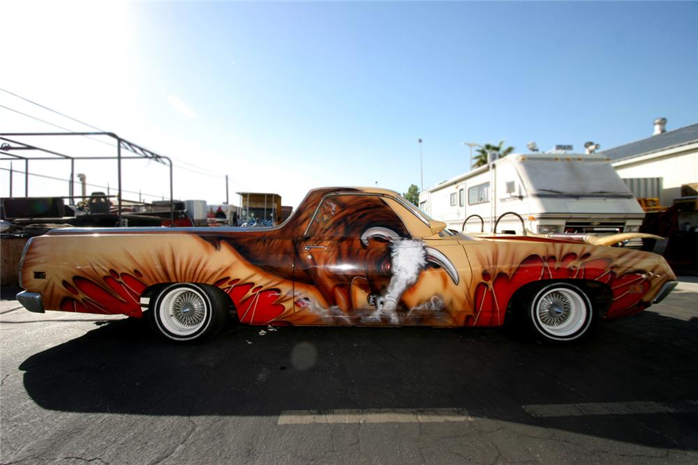"1970 FORD RANCHERO CUSTOM ""LOW BULL RIDER"" - Side Profile - 61613"