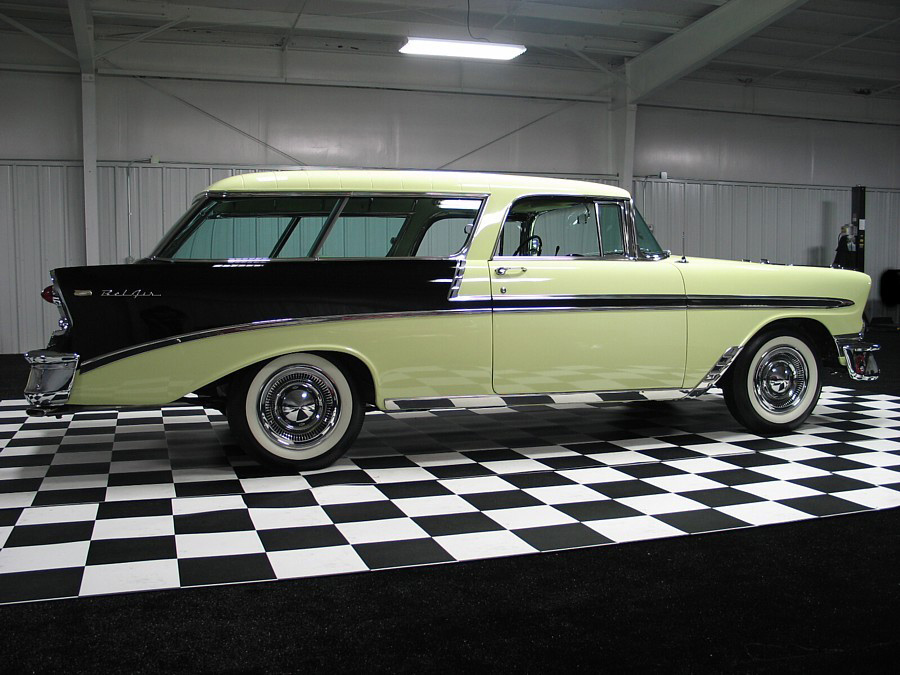 1956 CHEVROLET NOMAD 2 DOOR STATION WAGON - Side Profile - 61645