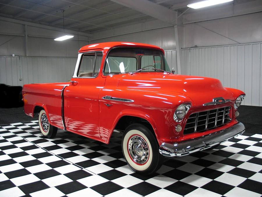 1956 CHEVROLET CAMEO 3100 PICKUP - Front 3/4 - 61646