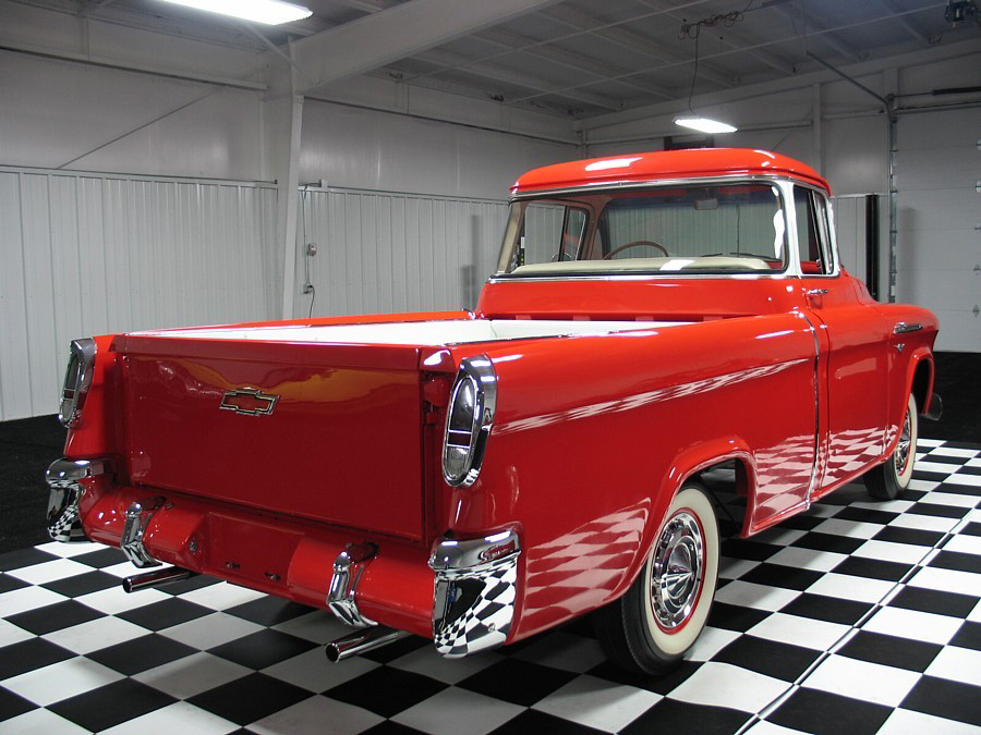 1956 CHEVROLET CAMEO 3100 PICKUP - Rear 3/4 - 61646