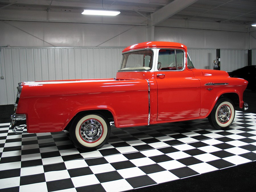 1956 CHEVROLET CAMEO 3100 PICKUP - Side Profile - 61646
