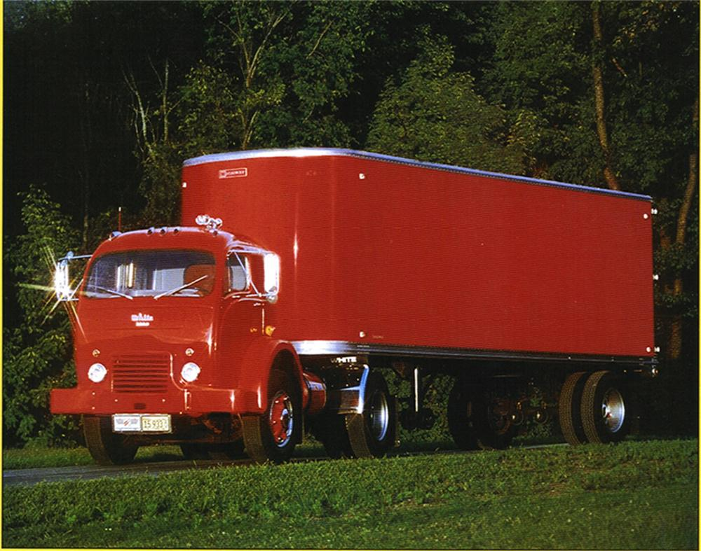 1953 WHITE 3000 CABOVER TRACTOR - Front 3/4 - 61658