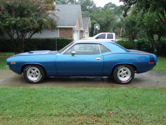 1972 PLYMOUTH CUDA 2 DOOR HARDTOP - Side Profile - 61711