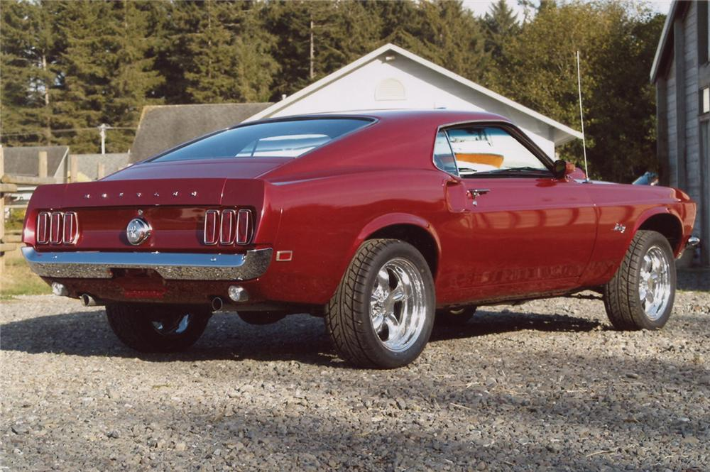 1969 FORD MUSTANG FASTBACK - Rear 3/4 - 61750