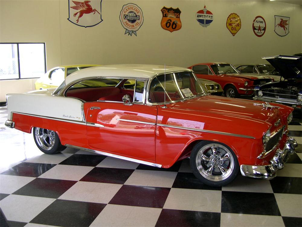 1955 CHEVROLET BEL AIR CUSTOM 2 DOOR HARDTOP - Front 3/4 - 61794