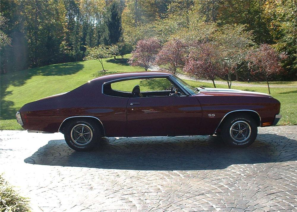 1970 CHEVROLET CHEVELLE 2 DOOR - Side Profile - 61812