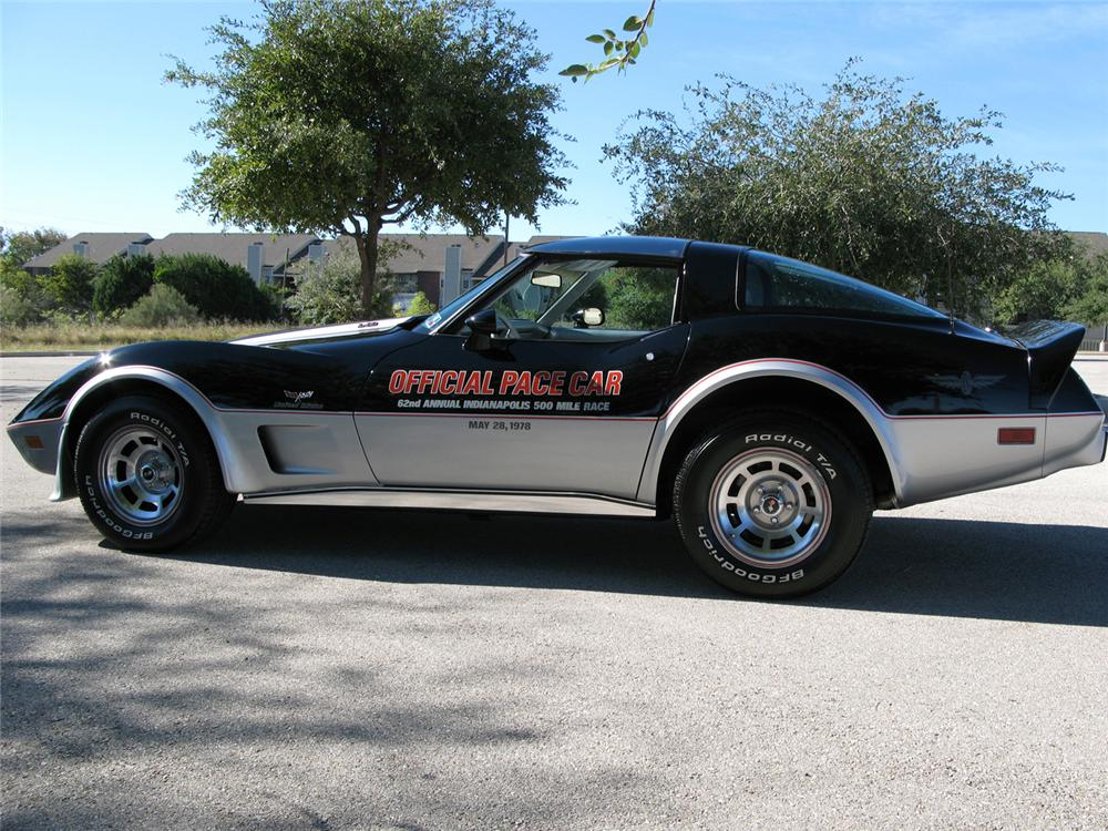 1978 chevrolet corvette indy pace car coupe 61825. Black Bedroom Furniture Sets. Home Design Ideas