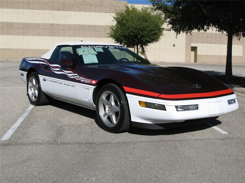 1995 chevrolet corvette indy pace car convertible 61826. Black Bedroom Furniture Sets. Home Design Ideas