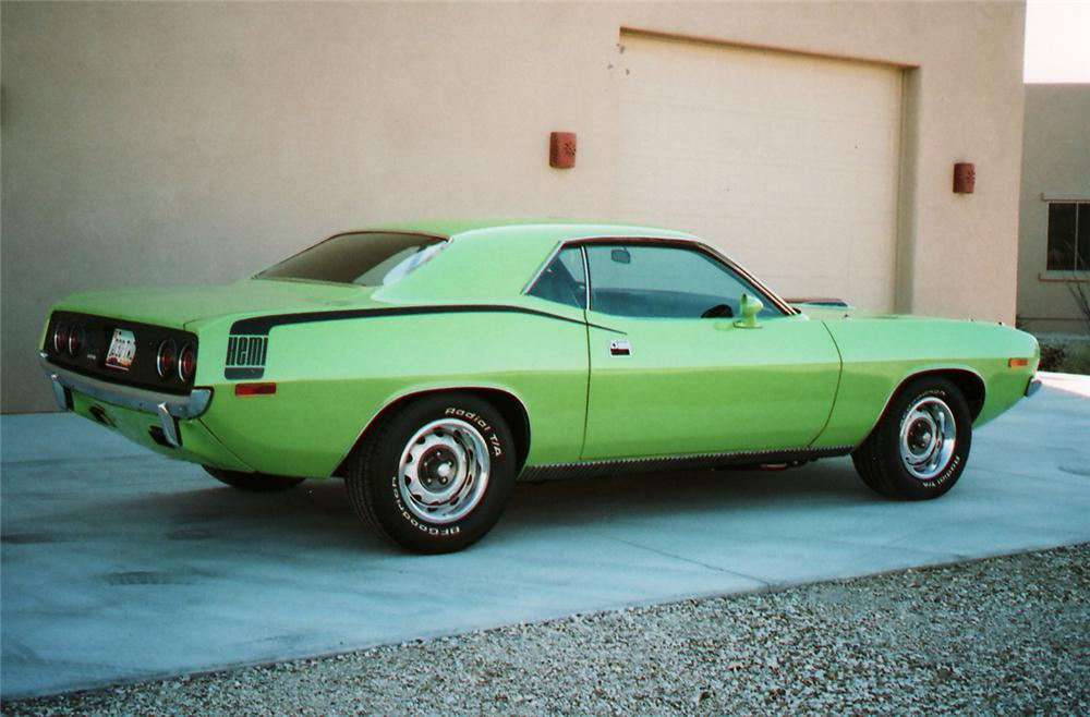 1972 PLYMOUTH HEMI CUDA RE-CREATION - Rear 3/4 - 61842