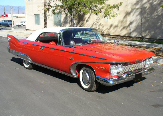 1960 PLYMOUTH FURY CONVERTIBLE - Front 3/4 - 61869