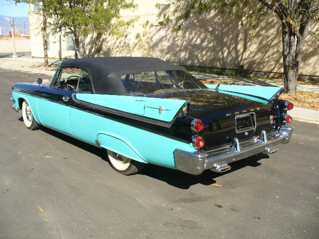1957 DODGE CUSTOM ROYAL LANCER CONVERTIBLE - Rear 3/4 - 61870